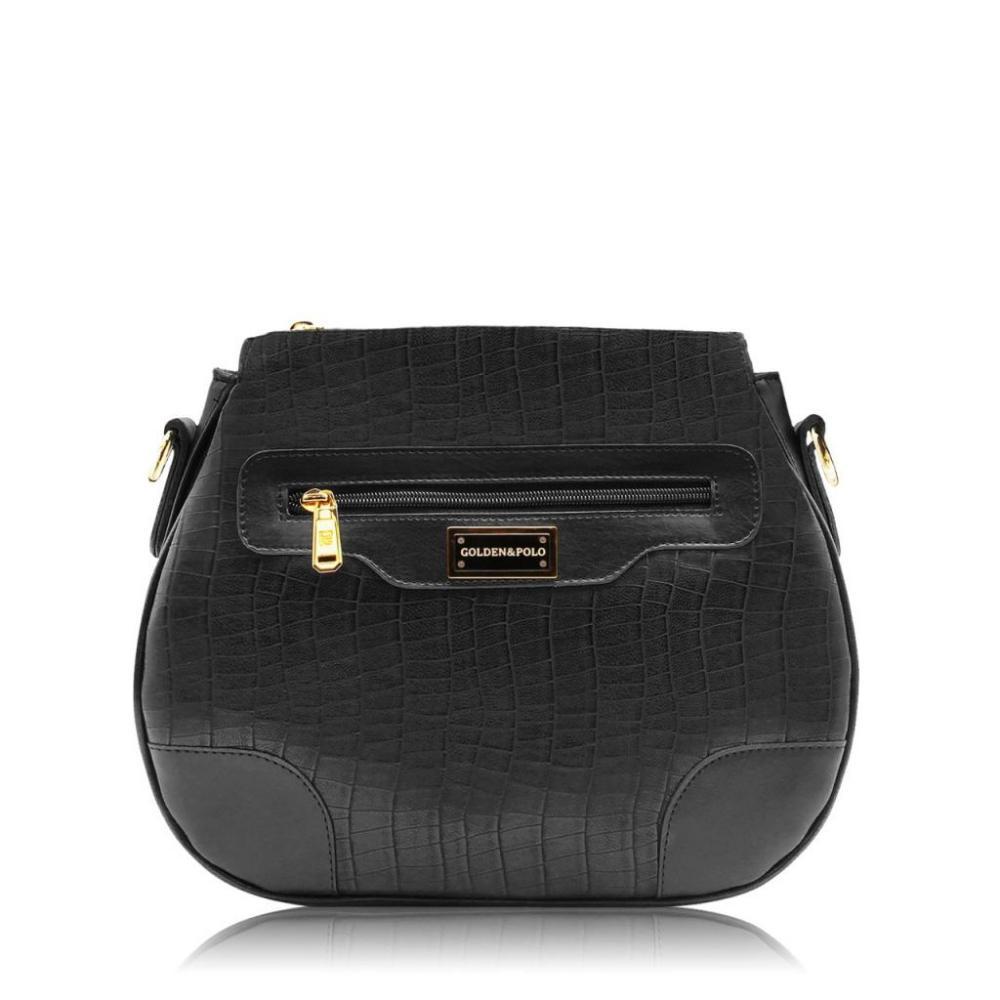 Bayan Kroko Siyah Çapraz Çanta