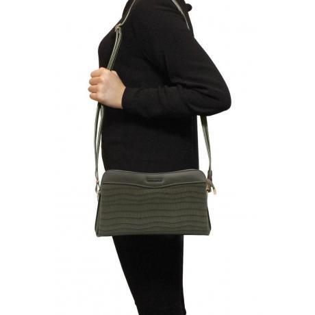 Kadın Kroko Haki Çapraz Çanta