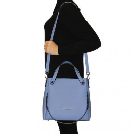 Kadın Mavi El ve Omuz Çantası
