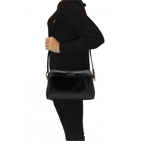 Kadın Rugan Siyah Çapraz Çanta