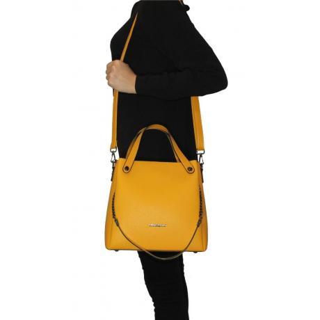 Kadın Sarı El ve Omuz Çantası